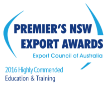 In the Education & Training category, the Premier's NSW Export Awards recognise expertise, outstanding innovation and international success.